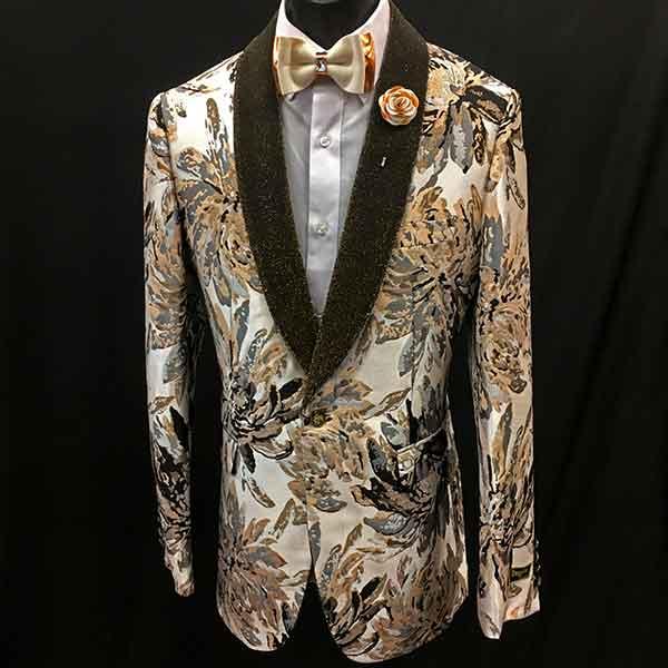 Formal Jacket cream pattern