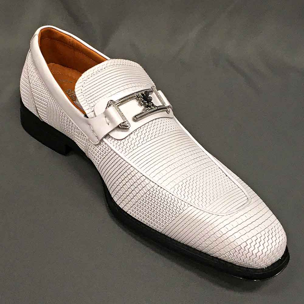 Men's dress shoe white with texture