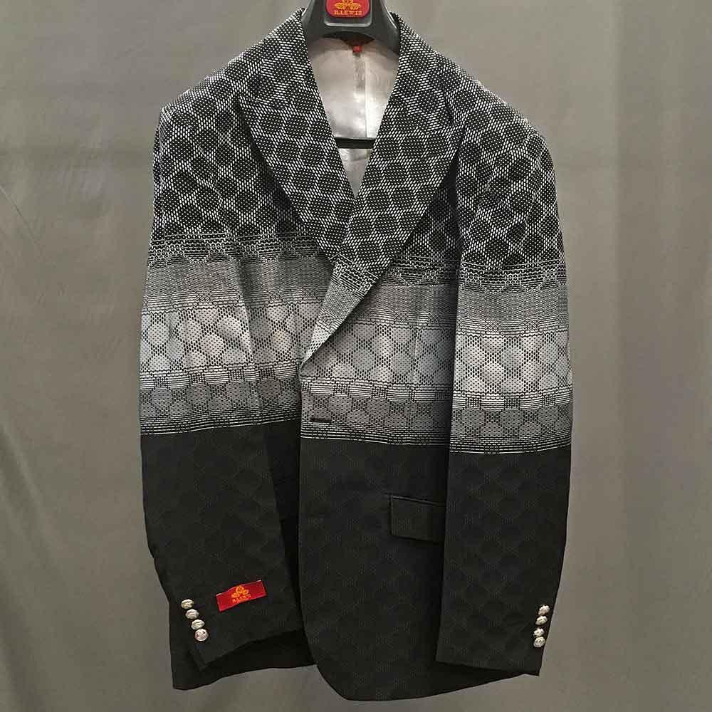 Men In Style Orlando Suit - black/gray jacket