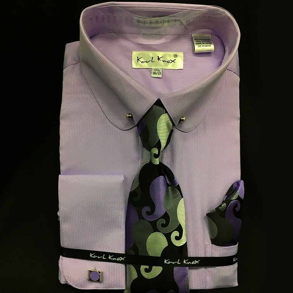 Men In Style Orlando Shirts - lavender dress shirt