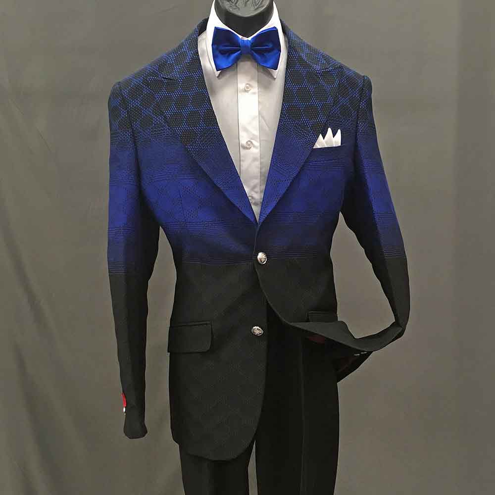 Men In Style Orlando Suit - Blue 2-pc suit