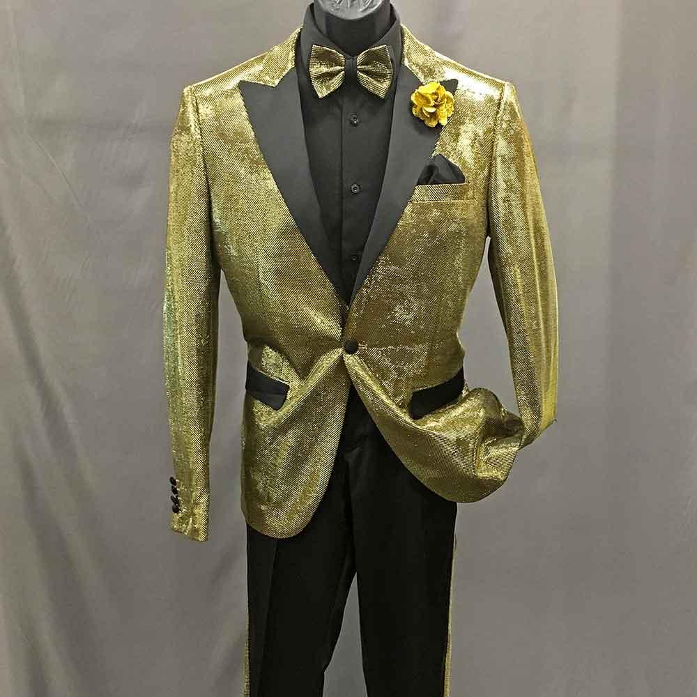 Men In Style Orlando Suit - Gold 2-pc suit