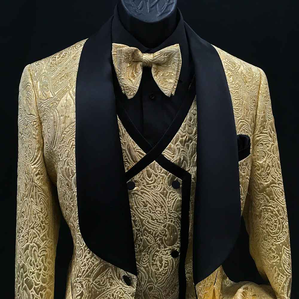 Men In Style Orlando Suit - Gold 3-pc suit