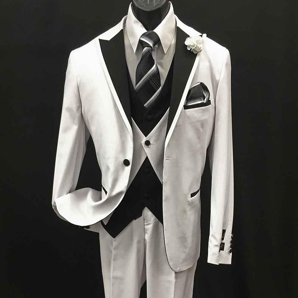 Men In Style Orlando Suit - White 3-pc suit