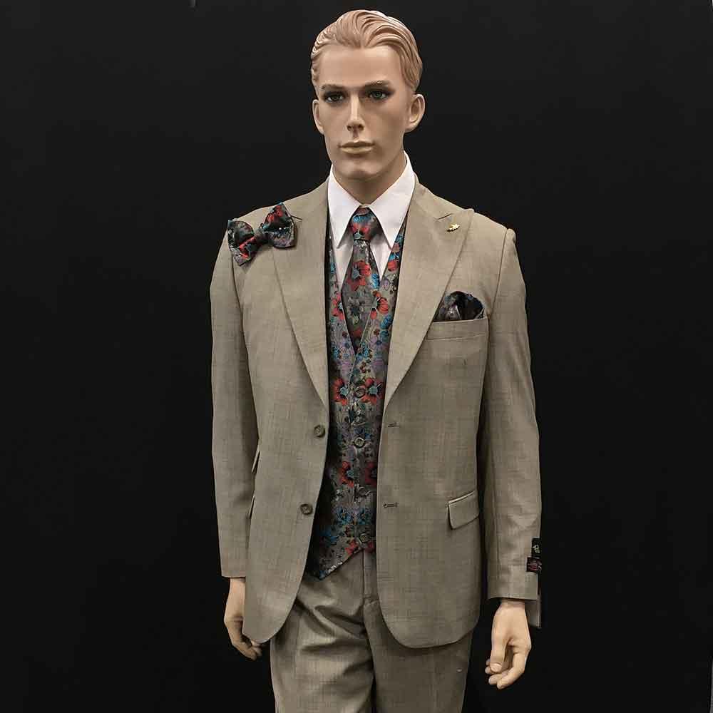 Men In Style Orlando Suit - tan 3-pc suit