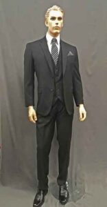 Black suit for funeral