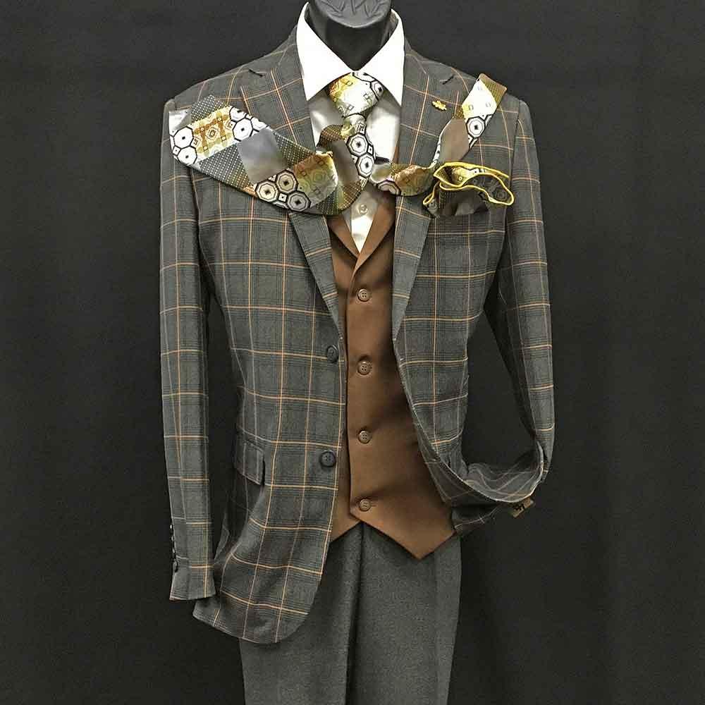 Gray 3-piece suit