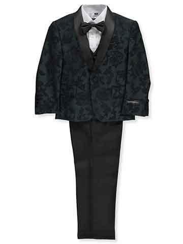 Boy's suit black pattern