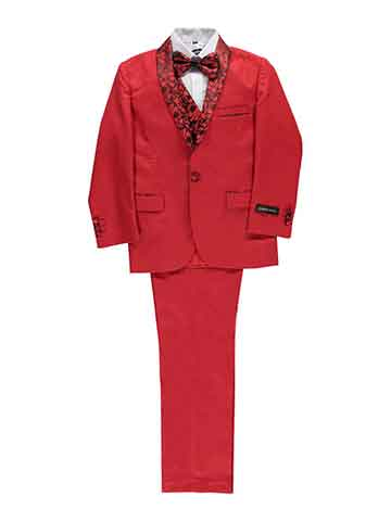 Boy's suit - red