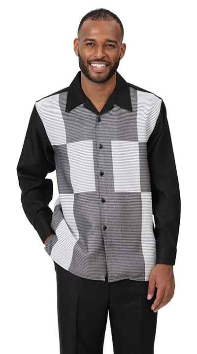 Leisure Suit Black and Gray