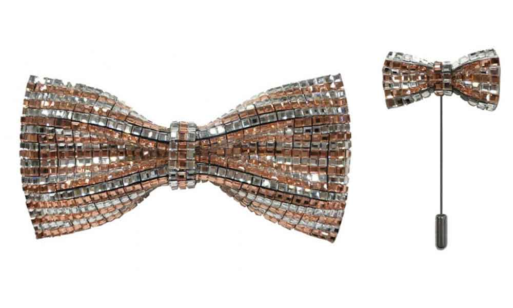 Bow Tie with lapel pin - Copper