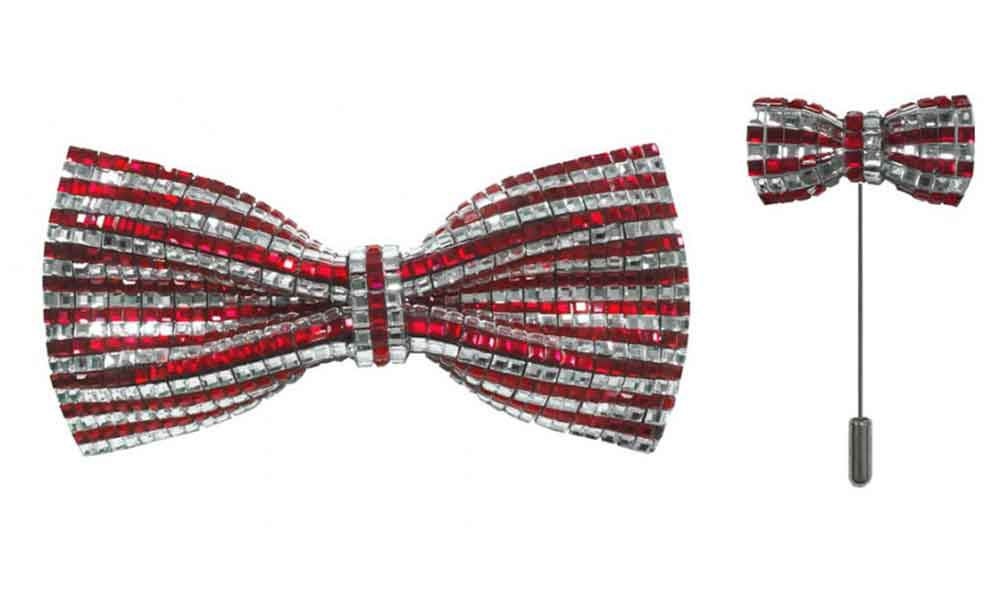 Bow Tie with lapel pin - Red