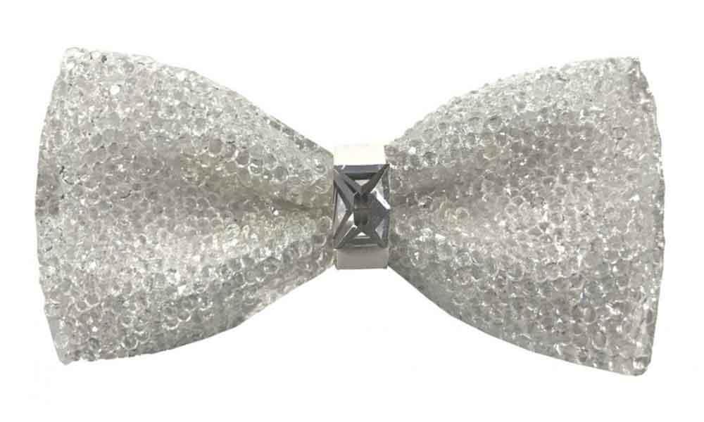 Fancy Bow Tie - White