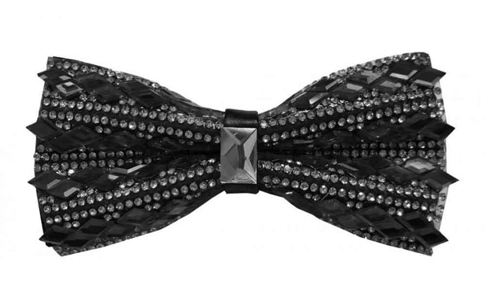 Fancy Bow Tie - Black