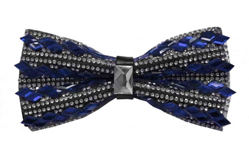 Fancy Bow Tie - Blue