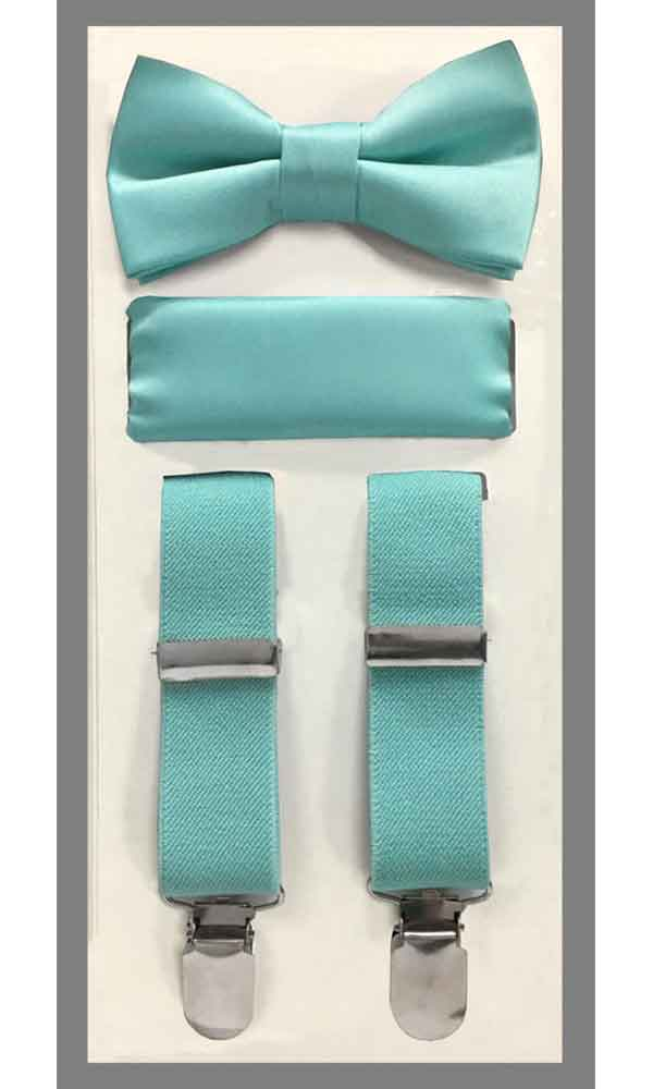 KIDS' Suspender Set - Aqua