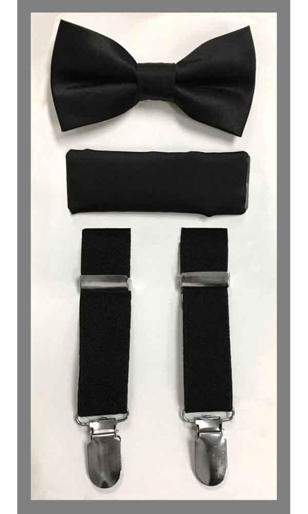 KIDS' Suspender Set - Black