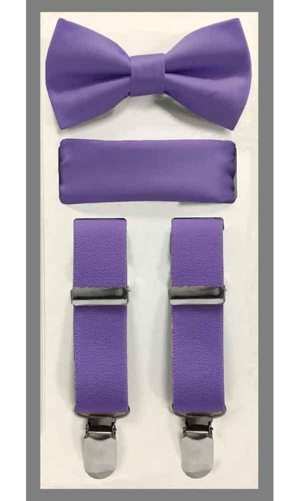 KIDS' Suspender Set - lavender