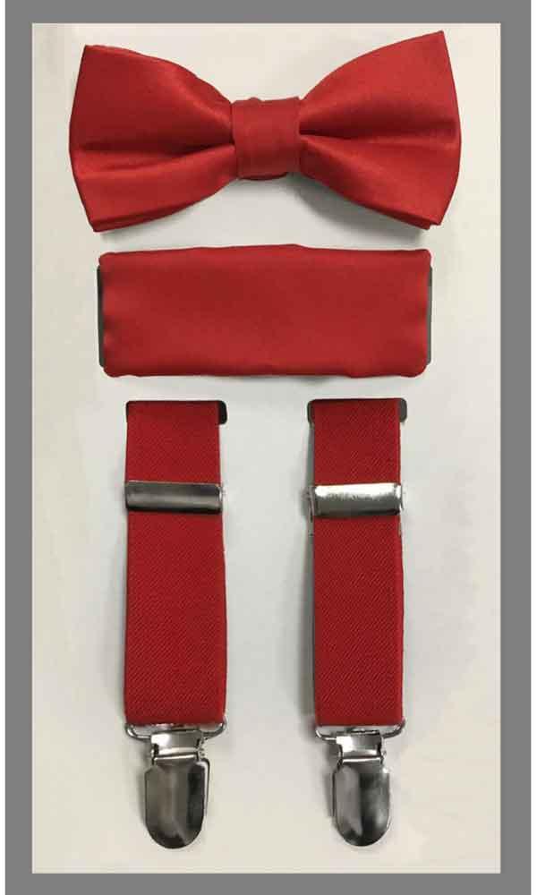 KIDS' Suspender Set - Red