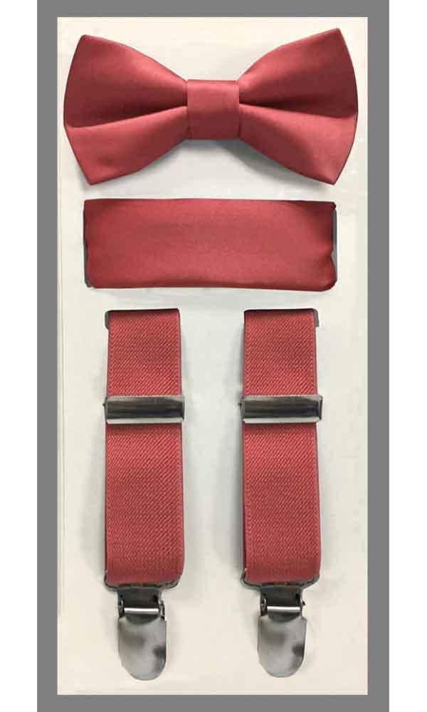 KIDS' Suspender Set - Rose