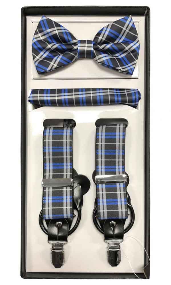Suspender Set - Blue