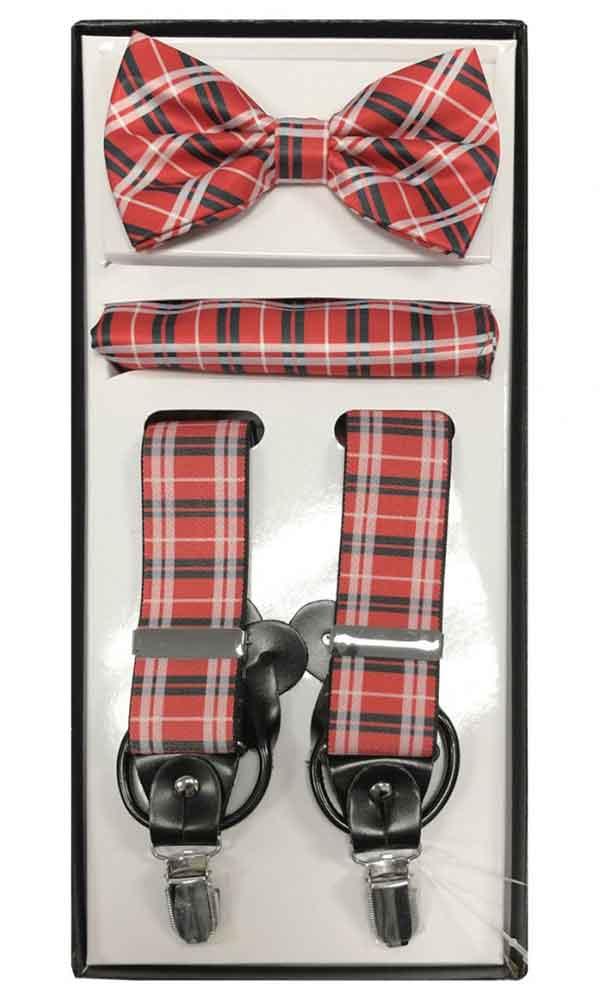 Suspender Set - Red