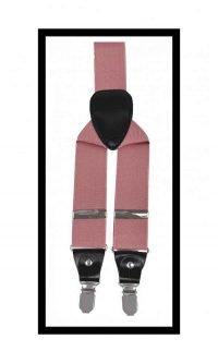 Suspenders - dusty pink